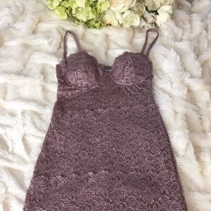 RARE! GUESS BY MARCIANO LACE PURPLE LILAC DRESS S